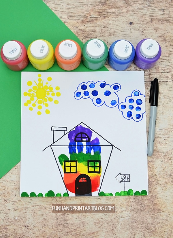 Rainbow House Leprechaun Trap Art Project