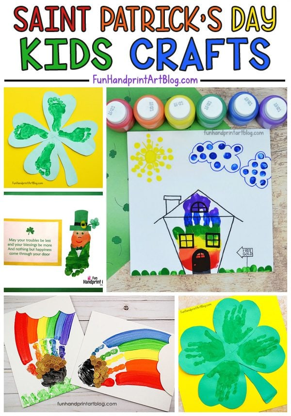 image regarding Leprechaun Feet Printable named Enjoyable Saint Patricks Working day Crafts designed with Handprints and
