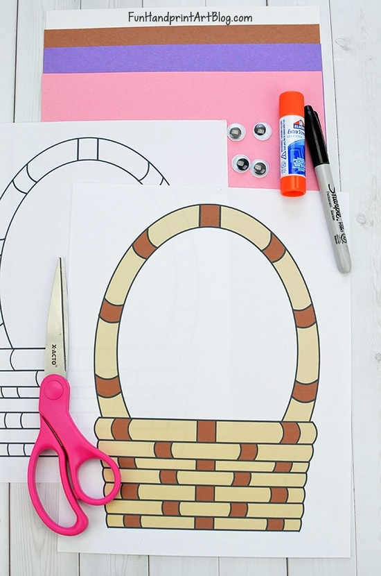 Easter Basket Printables and Bunny Craft Supplies