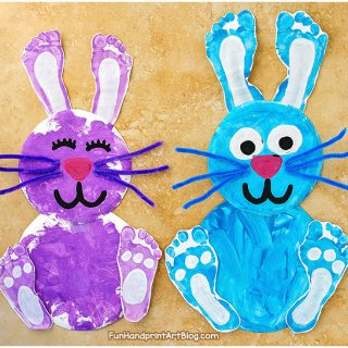 Paper Plate Bunnies For Kids to make for Easter or Spring