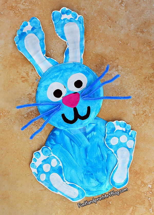 Super Cute Paper Plate Bunny Craft For Preschoolers To Make
