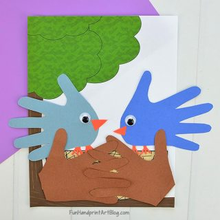 Easy Baby Blue Bird Craft With Template