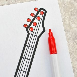 Color the guitar coloring page