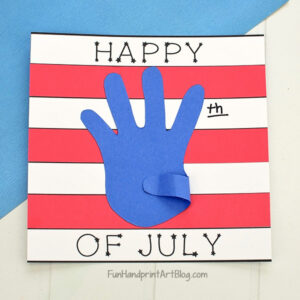 Simple Patriotic Red, White, and Blue Paper Craft with Template