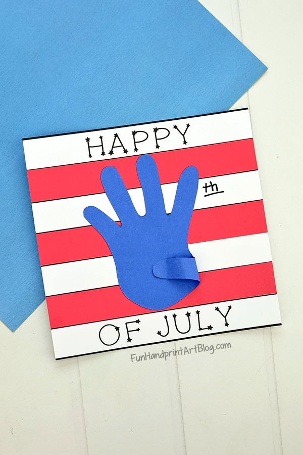 Simple Happy 4th of July Paper Craft with Template