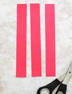 cute red paper stripes using template
