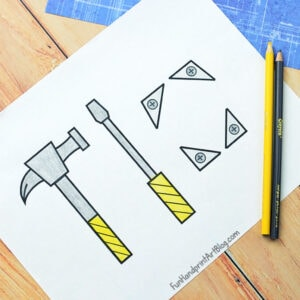 Printable Screwdriver and Hammer Template