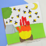 Printable Camping Craft for preschoolers & kindergartners