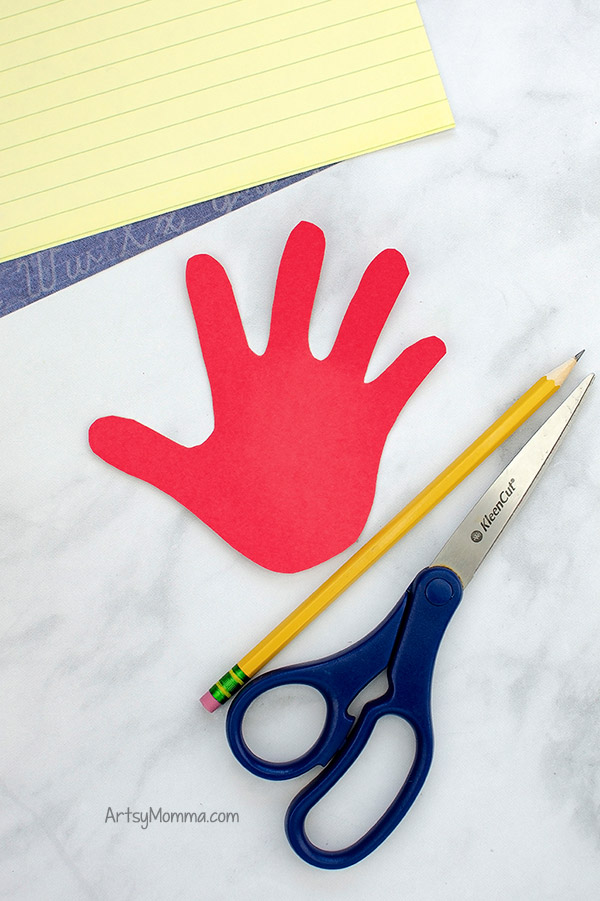 Traced Hand Cutout for School Craft