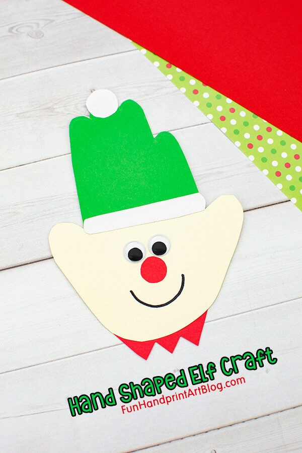 Easy Handprint Elf Craft for Preschoolers