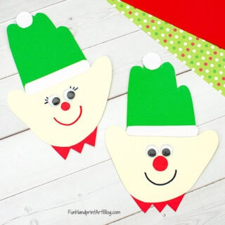 Paper Elf Christmas Craft