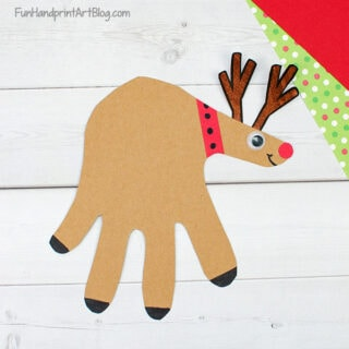 Hand Shaped Reindeer Paper Craft for Christmas