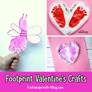 Footprint Craft Ideas for Valentine's Day