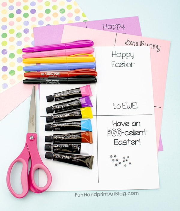 Supplies for Easter Cards