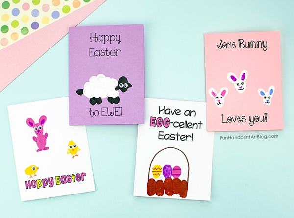 4 Thumbprint Easter Cards