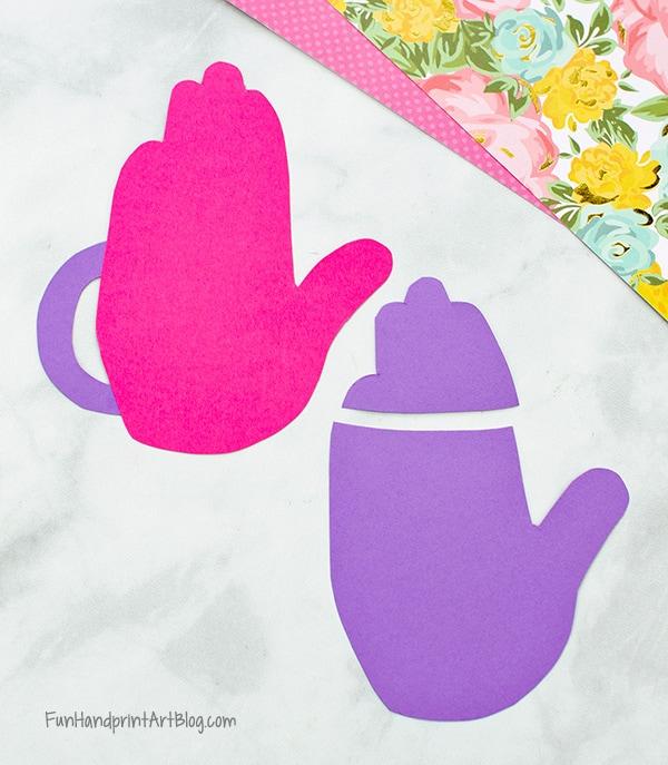 Cut pieces for paper teapot