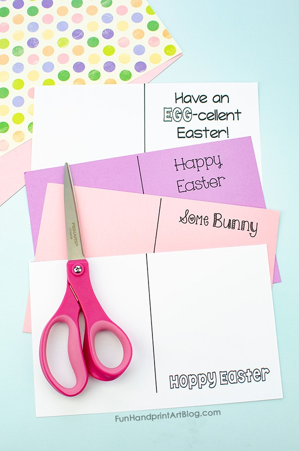 4 Printed Easter Card Templates