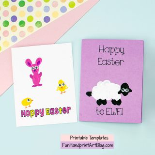2 Easter Thumbprint Cards