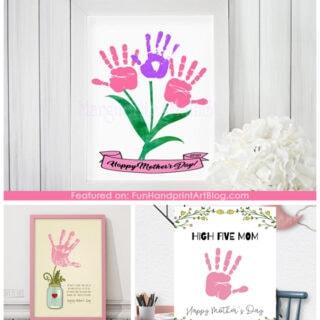 3 Printable Handprint Gifts for Mom
