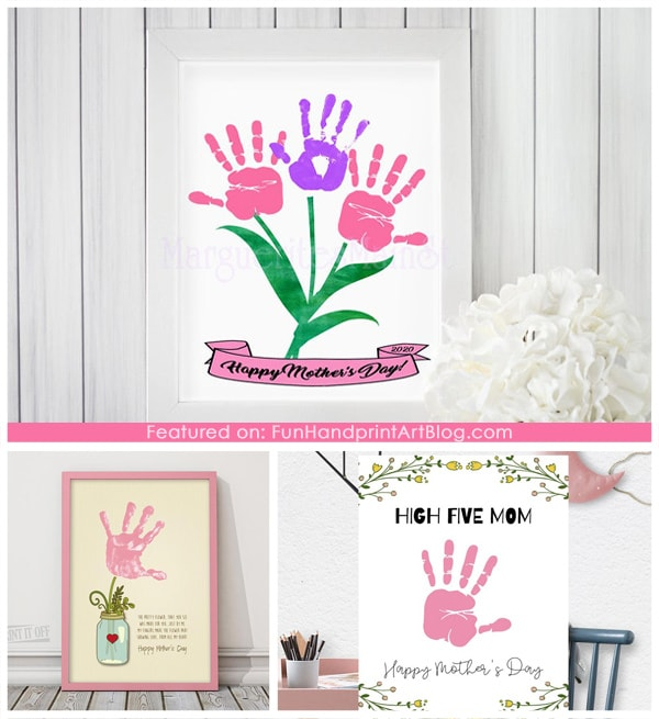 3 Printable Handprint Gifts for Mom