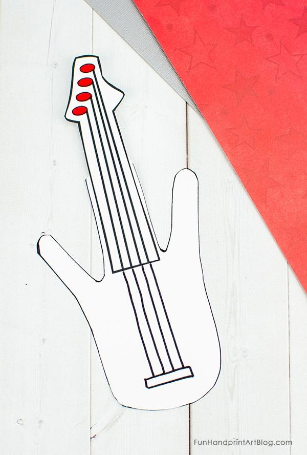 Handprint Paper Guitar Craft