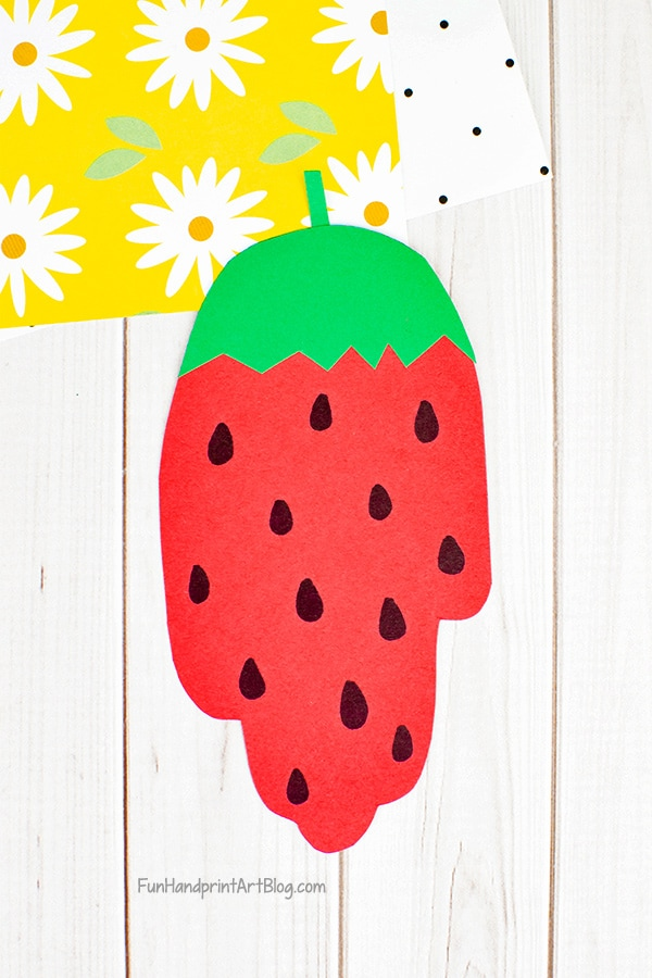 Paper Strawberry Craft