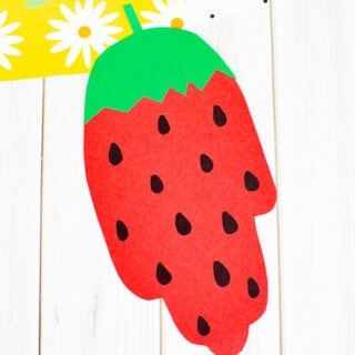 Hand Shaped Strawberry Paper Craft
