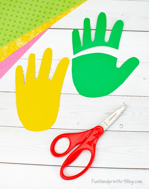 Yellow & Green Paper Hands