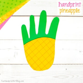Paper Pineapple Craft for Preschoolers