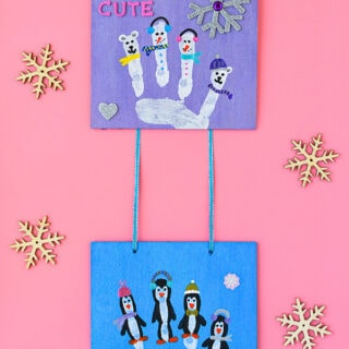 Winter Wall Hanging Handprint Craft