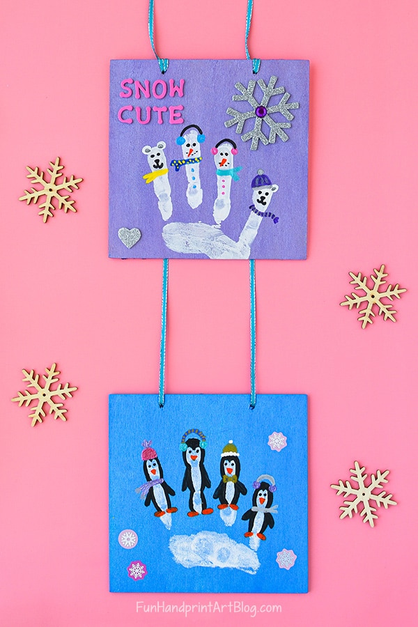 Winter Wall Hanging Handprint Craft