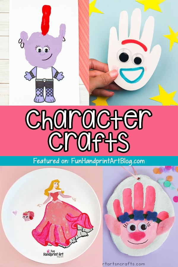 Handprint Cartoon Characters