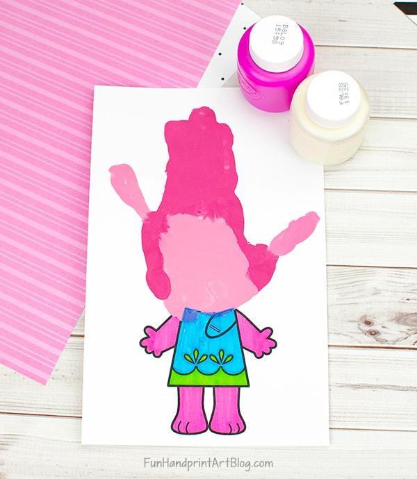 Handprint Poppy Trolls Craft