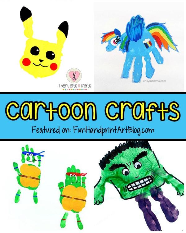 Fun Handprint Cartoon Characters