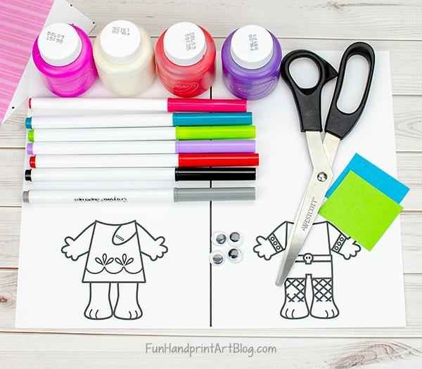 Trolls Template & Craft Supplies