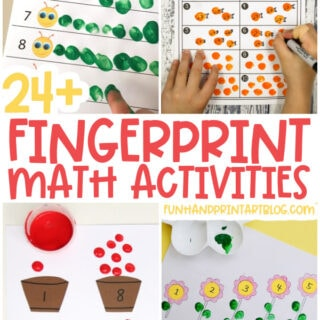 Fingerprint Math Activities for Preschoolers