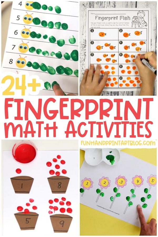 Fingerprint Math Activities for Preschoolers