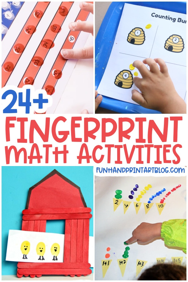 Fingerprint Math Activities and Printables