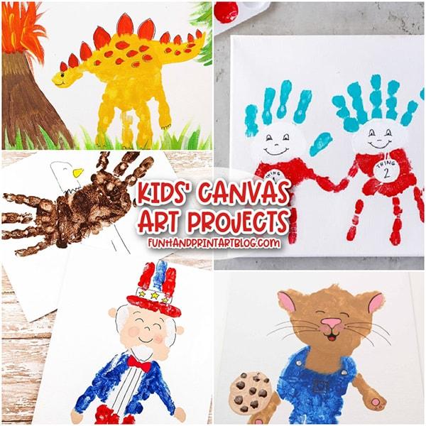 Handprint Canvas Art for Kids