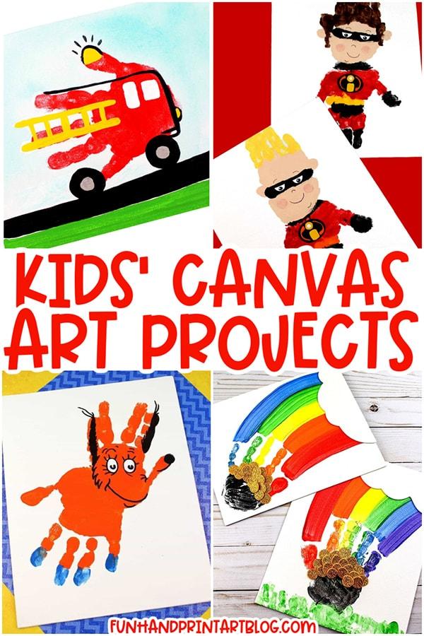 Kids Canvas Art Ideas