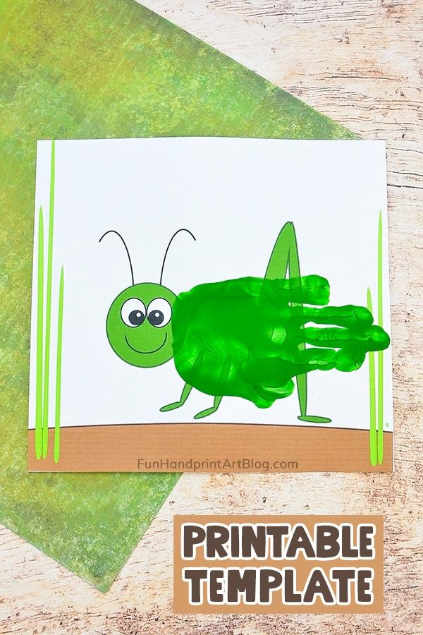 Handprint Grasshopper Craft for Kids